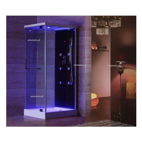 Kabina prysznicowa z hydromasażem 80cm x 100cm czarna marki Aquaholm