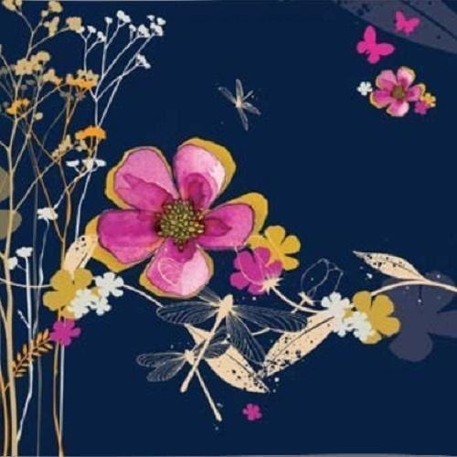 Clear creations Karnet swarovski kwadrat cl2906_bl kwiaty granatow (5060481573498)