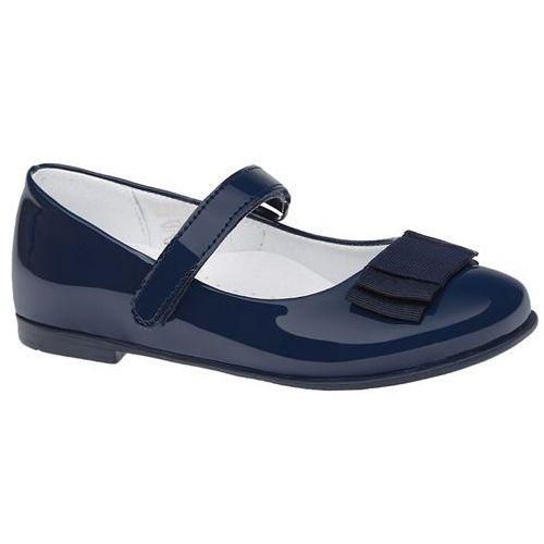 Balerinki KORNECKI 4246 Granatowe Lakierki Baleriny na rzepy - Granatowy, kolor niebieski