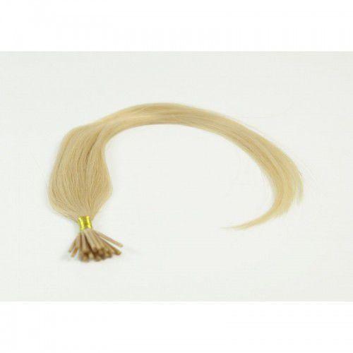 Longhair Włosy na ringi - kolor: #613 - 20 pasm bardzo jasny słoneczny blond