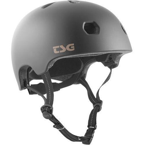 TSG Meta Solid Color Kask rowerowy, satin black L/XL | 58-60cm 2019 Kaski BMX i Dirt