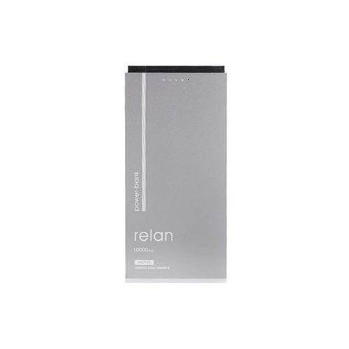 REMAX PowerBank RPP-65 Relan 10000 mAh, srebrny (6954851268000)