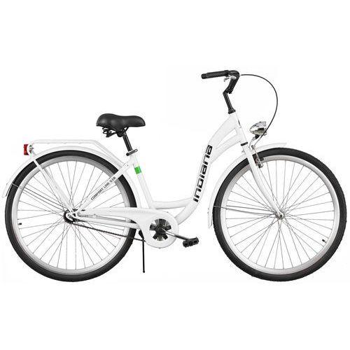 Rower INDIANA Moena S1B Biały + 5 lat gwarancji na ramę! + DARMOWY TRANSPORT!