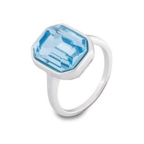 Pierścionek z kryształem Swarovskiego® bonprix srebrny kolor rodowany, kolor szary
