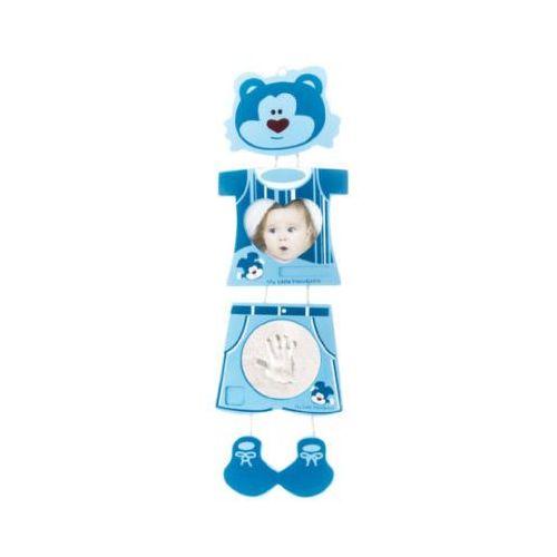 zestaw na odcisk rączki lub stópki dziecka kolor niebieski od producenta Bieco