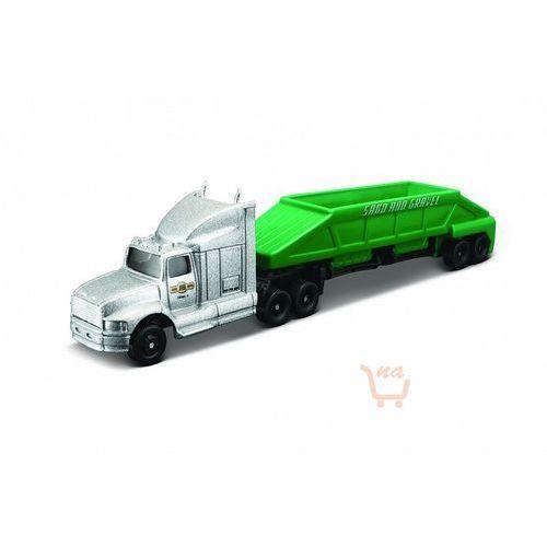 Maisto  highway haulers – ciężarówka z naczepą kolor srebrno-zielony