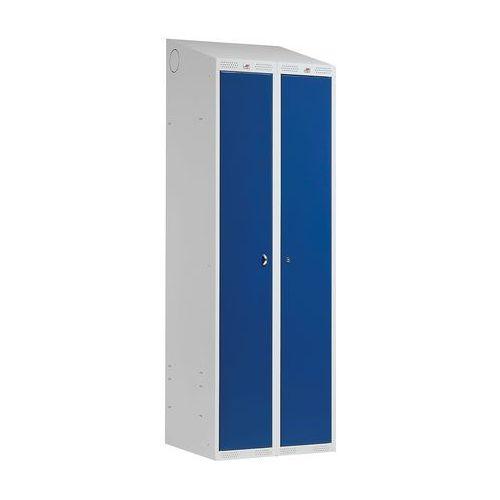 Szafa ubraniowa classic combo 2 drzwi 1900x600x550 mm niebieski marki Aj