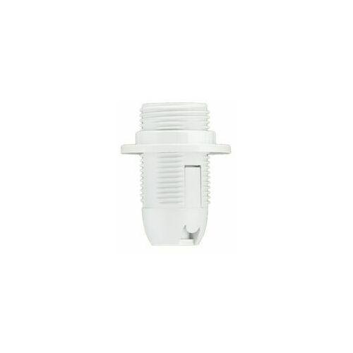 Oprawka E14 termoplastyczna z kołnierzem biała, gniazdo żarówki D.3027B PAWBOL
