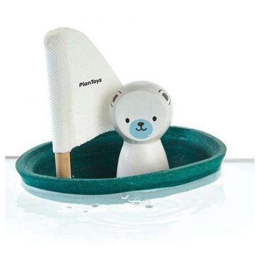 Zabawka do Kąpieli - Żaglówka z Niedźwiedziem Polarnym, PLAN TOYS, PLA2504