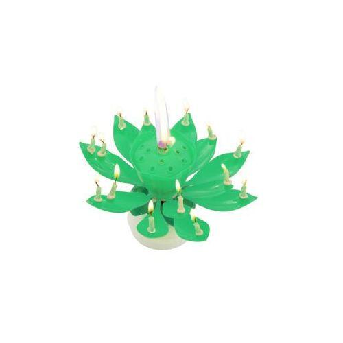 Świeczka grająca - tańcząca - zielona marki Tamipol