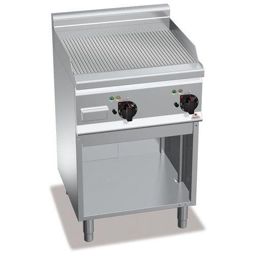 Płyta grillowa, elektryczna, ze stali nierdzewnej, ryflowana, wolnostojąca, 8 kw, 600x600x900 mm   , plus 600, powered multipan, e6fr6mp-2 marki Berto's