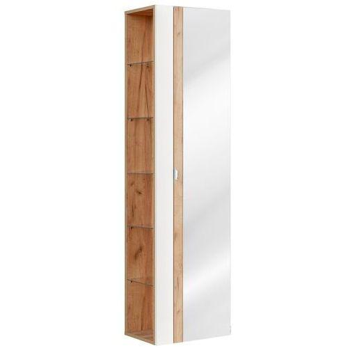 Szafka wysoka z lustrem CAPRI WHITE 803B