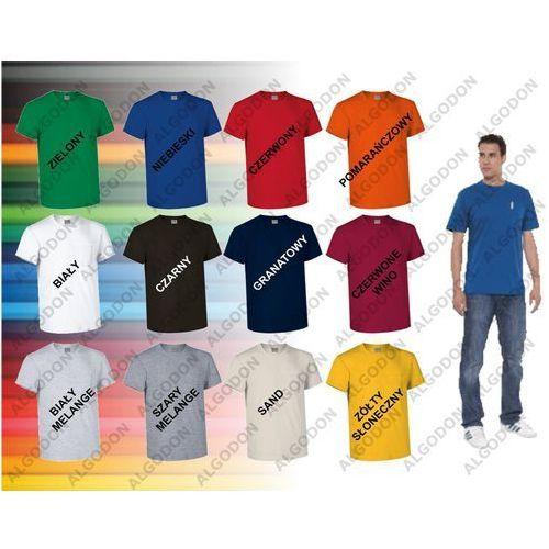 T-shirt koszulka z kieszonką bawełna S-2XL EAGLE VALENTO xxl szary-melange, 1 rozmiar