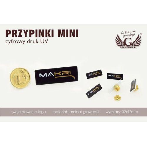 Przypinki/Pinsy mini z Twoim logo - kolorowy druk UV - PS009