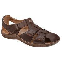 Krisbut Sandały 1108a-4-9 brązowe półbuty letnie - brązowy
