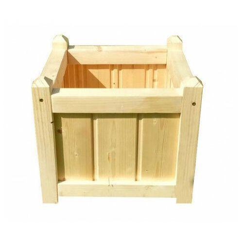 Drewniana kwadratowa donica ogrodowa 15 kolorów - Mundo 2X, Donica-drewniana-nr-2