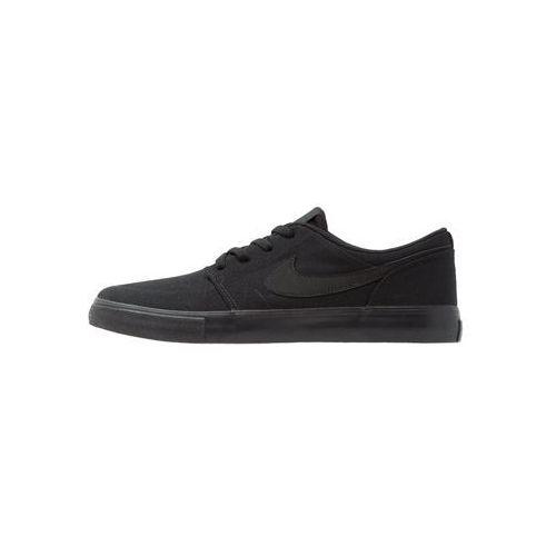 Nike SB PORTMORE II SS CNVS Tenisówki i Trampki black (0823233710467)