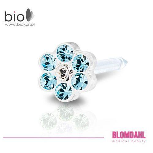Kolczyk do przekłuwania uszu Blomdahl - Daisy Aquamarine / Crystal 5 mm