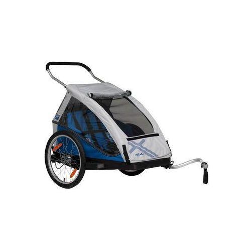 Xlc duo przyczepka rowerowa niebieski/srebrny 2018 przyczepki dla dzieci (4055149103521)