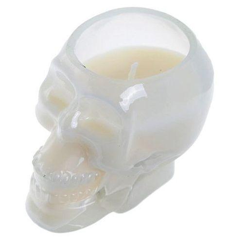 Biała czaszka - świeczka zapachowa: drzewo sandałowe i cedr marki Lunamarket