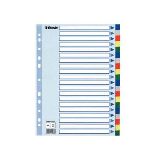 przekładki plastikowe z pp a4 20 kart marki Esselte