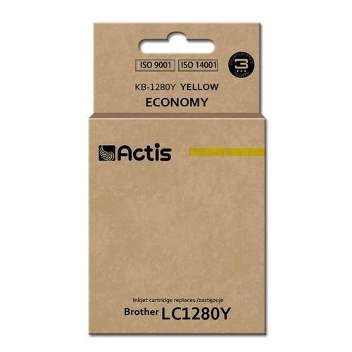 Actis Tusz kb-1280y (do drukarki brother, zamiennik lc1280y standard 19ml yellow)