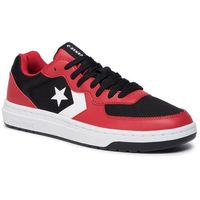 Converse Sneakersy - rival ox 164895c black/enamel red/white