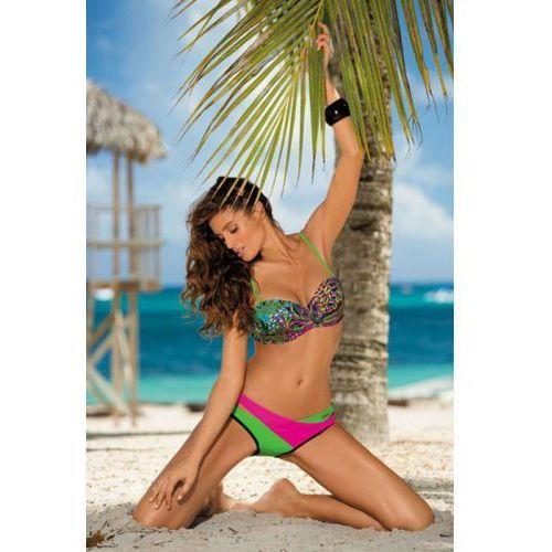 Kostium kąpielowy model margaret nero-crickiet-rosa shocking m-377 black/green/pink marki Marko