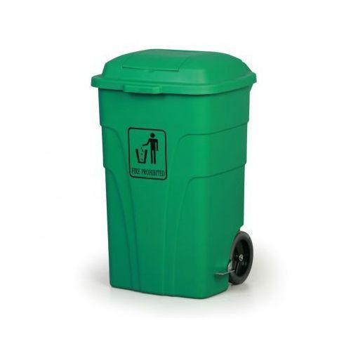 Kosz uniwersalny z pedałem 120 litrów, zielony