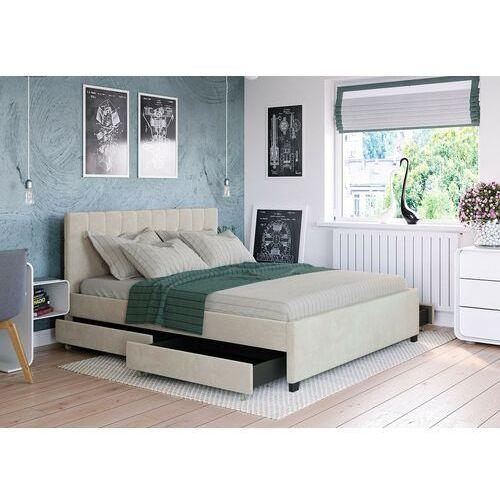 Łóżko 160x200 z 4 szufladami - modena welur beżowe marki Zona meble