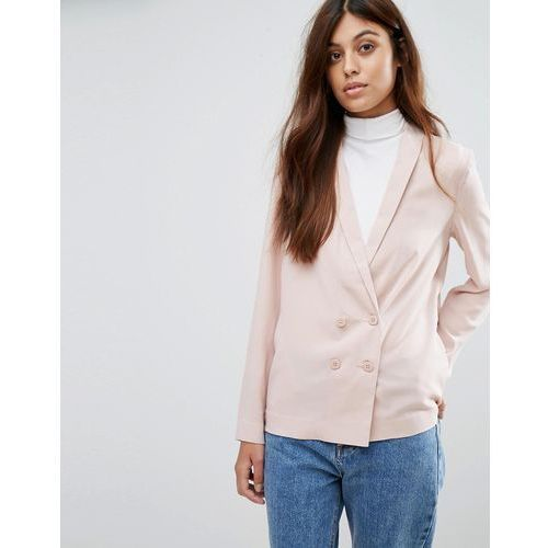 New Look Crepe Double Breasted Soft Blazer - Pink - produkt z kategorii- Pozostałe