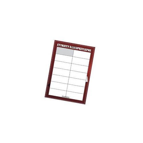 Etykiety samoprzylepne białe 105x42,4/14szt (100)