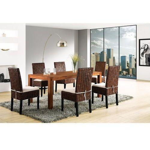 Stół do jadalni drewniany brązowy 180 x 90 cm NATURA