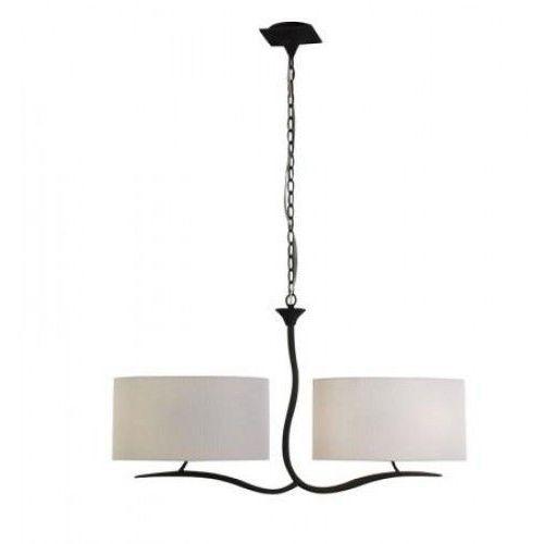 Lampa wisząca eve 4l antracyt z kremowymi kloszami, 1150 marki Mantra