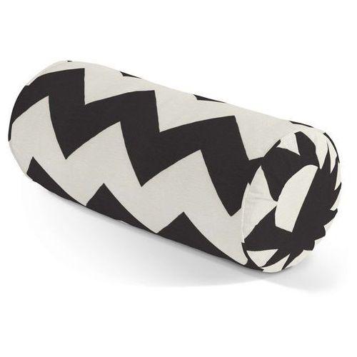 Dekoria Poduszka wałek z zakładkami, czarno-białe zygzaki, Ø 20 x 50 cm, Comics