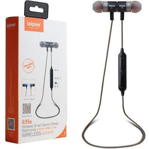 ipipoo iL95BL Różowe złoto by AWEI douszne słuchawki bezprzewodowe Bluetooth 4.2