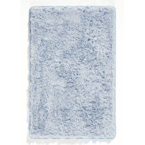 Dywaniki łazienkowe ze sztucznym futerkiem i pianką memory jasnoniebieski marki Bonprix