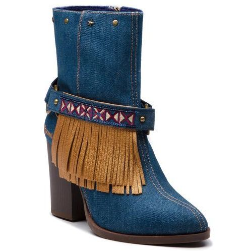 Desigual Botki - shoes folk exotic denim 18wstd02 5053