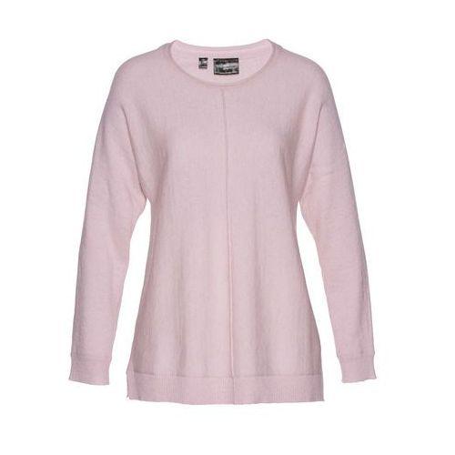 Bonprix Sweter z domieszką kaszmiru  matowy jasnoróżowy