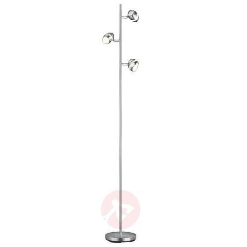 Trio SHARK Lampa stojąca LED Nikiel matowy, 3-punktowe - Nowoczesny - Obszar wewnętrzny - SHARK - Czas dostawy: od 4-8 dni roboczych (4017807336887)
