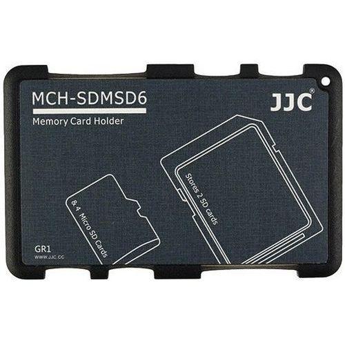 JJC MCHSDMSD6GR na karty 2x SD, SDHC, SDXC, 4x microSD - produkt z kategorii- Futerały i torby fotograficzne