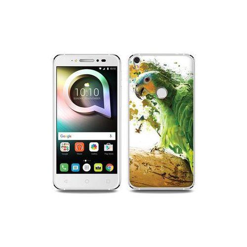 Alcatel shine lite - etui na telefon foto case - zielona papuga marki Etuo foto case
