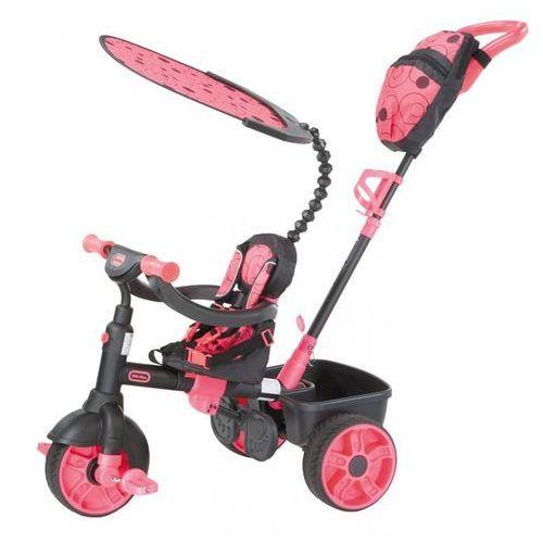 trójkołowy rowerek 4w1 deluxe, różowy/szary marki Little tikes
