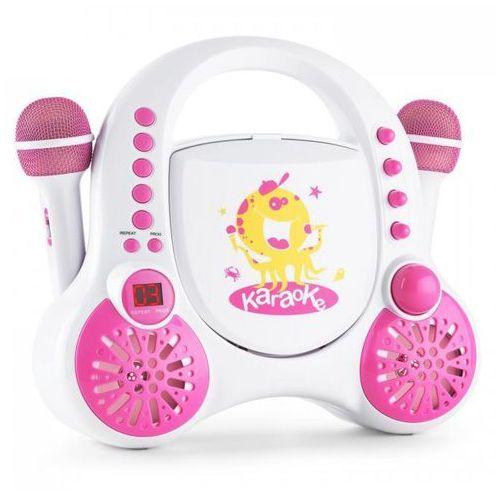 Rockpocket Dziecięcy system karaokeCD AUX 2x mikrofon zestaw naklejek biały