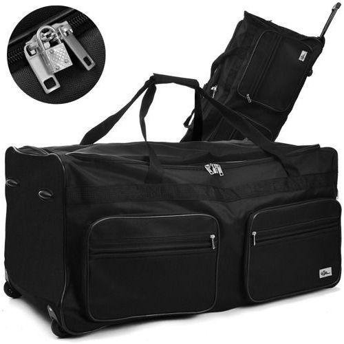 Duża czarna walizka podróżna na kółkach 160 litrów od producenta Wideshop