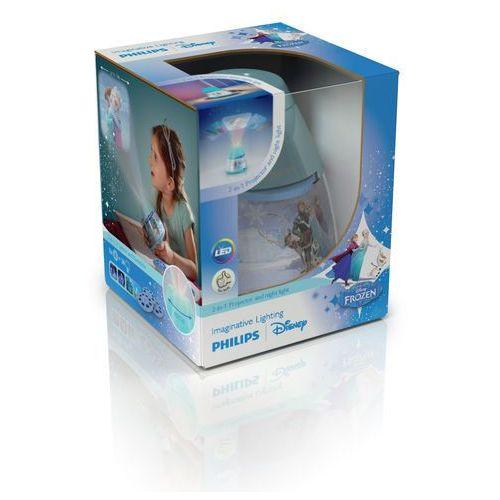 Philips Disney - lampka nocna projektor led niebieski kraina lodu wys.11,8cm (8718696122723)