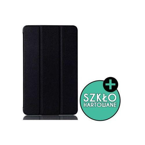 4kom.pl Etui book cover galaxy tab a 7.0 t280 czarne +szkło hartowane - czarny