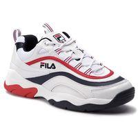 Sneakersy FILA - Ray F Low 1010578.01M White/Fila Navy/Fila Red, w 3 rozmiarach