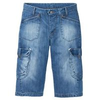 """Bonprix Długie bermudy dżinsowe loose fit niebieski """"stone"""" used"""