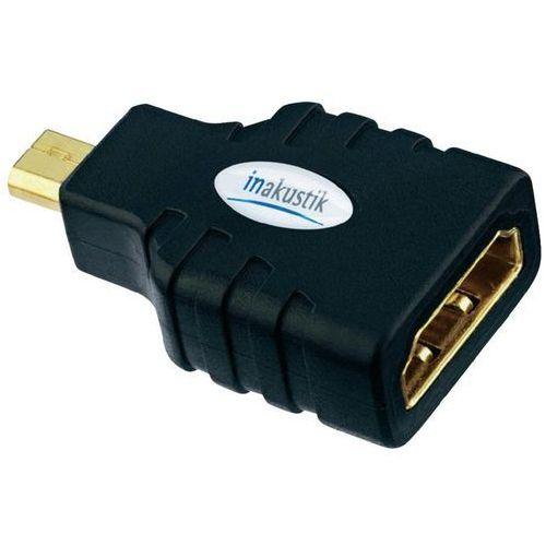 Przejściówka, adapter hdmi  0045218 45218, [1x złącze męskie micro hdmi (typ d) - 1x złącze żeńskie hdmi] marki Inakustik
